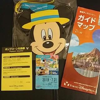 Disney - ディズニー チケットホルダー&リゾートライン2日間乗り放題券&ポップコーン引換券