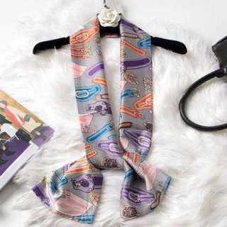 おしゃれ アイテム スカーフ 灰色 オレンジバックル シフォン イメージチェンジ(ストール/パシュミナ)