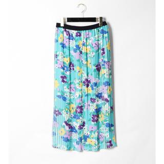 GRACE CONTINENTAL - 今季 フラワープリーツスカート 美品