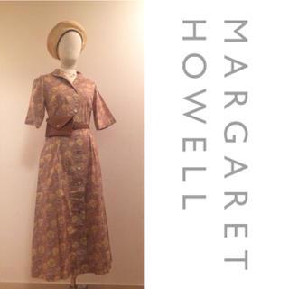 マーガレットハウエル(MARGARET HOWELL)の【MARGARET HOWELL】♡ リバティ 花柄シャツワンピース+.*(ロングワンピース/マキシワンピース)
