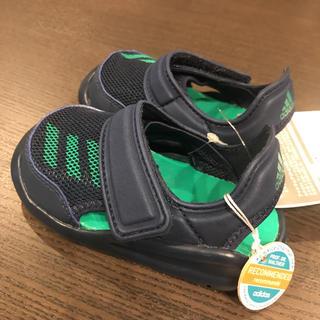 adidas - 【新品★タグ付き】adidas サンダル ネイビー/緑 14cm