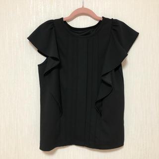 ジーユー(GU)のGU フリル トップス(シャツ/ブラウス(半袖/袖なし))