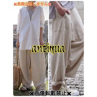 アンティカ(antiqua)の🍀antiqua🍀人気♥リネンワイドサルエル♥新品✨(サルエルパンツ)