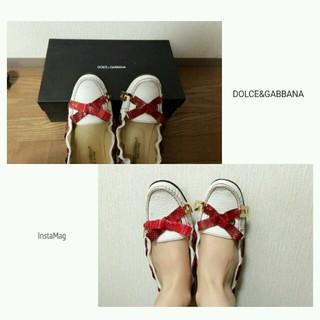ドルチェアンドガッバーナ(DOLCE&GABBANA)のドルガバ☆オールレザーのローファー(ローファー/革靴)