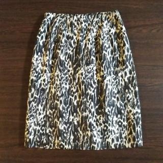 ドリスヴァンノッテン(DRIES VAN NOTEN)のDRIES VAN NOTEN 上品な豹柄のシルクスカート 34サイズ(ひざ丈スカート)
