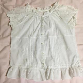 ジーユー(GU)のトップス夏物ブラウス 白(シャツ/ブラウス(半袖/袖なし))