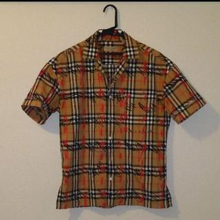 BURBERRY - BURBERRY 半袖オープンカラーシャツ