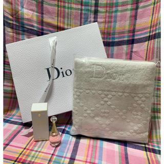 ディオール(Dior)のDior★フェイスタオル&j`adore in joy(オードゥ トワレ)(タオル/バス用品)