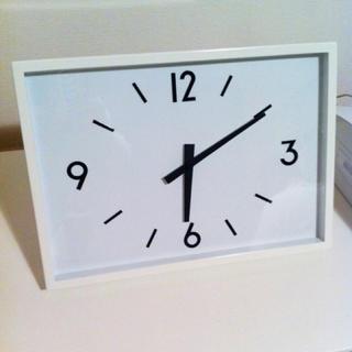 ムジルシリョウヒン(MUJI (無印良品))の限定価格★新品★ 無印良品 駅の時計・電波ウォールクロック・アイボリー 掛時計∂(掛時計/柱時計)