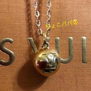 ルイヴィトン(LOUIS VUITTON)のルイヴィトン ネックレス ゴールドLVボール チャーム 美品(ネックレス)