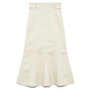 リリーブラウン(Lily Brown)の新品タグ付き lily brown デザインステッチスカート ベージュ(ロングスカート)