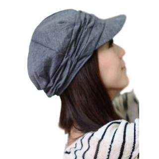 ★新品 シンプル レディース 帽子 キャップ ハット キャスケット (グレー)(キャスケット)