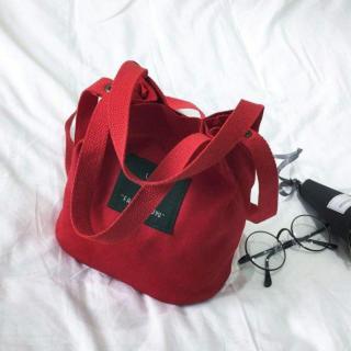 レッド 2way トートバッグ キャンバスバッグ ショルダーバッグ 帆布 ミニ(トートバッグ)