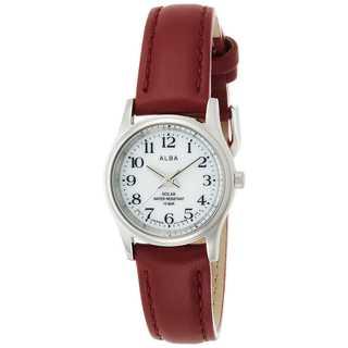 [アルバ]ALBA 腕時計 ソーラー ハードレックス 赤革バンド(腕時計)