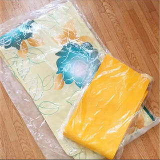 浴衣 帯 2点セット 黄色(浴衣)