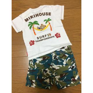 ミキハウス(mikihouse)の【新品・未使用】ミキハウス ハーフパンツ 、used半袖Tシャツ(80)(Tシャツ)