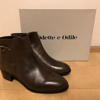 オデットエオディール(Odette e Odile)の新品未使用 オデットエオディール 本革ショートブーツ(ブーツ)