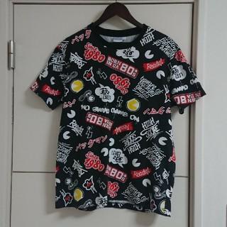 バンダイ(BANDAI)のパックマン 総柄Tシャツ ゲームキャラクター バンダイナムコ(Tシャツ(半袖/袖なし))