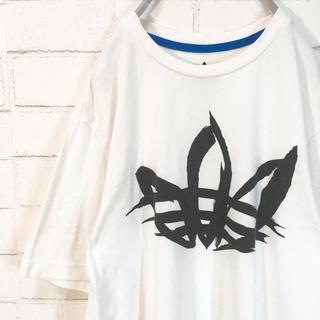 アディダス(adidas)のadidas  アディダス Tシャツ ホワイト トレフォイル 和風 墨絵(Tシャツ/カットソー(半袖/袖なし))