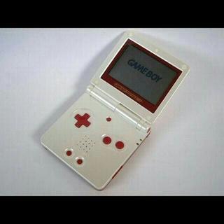 ニンテンドウ(任天堂)のゲームボーイアドバンスSP(GBASP) ファミコンカラー(携帯用ゲーム本体)