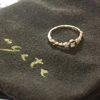 アガット(agete)のagete オパール ダイヤモンド ピンキーリング  巾着付き(リング(指輪))