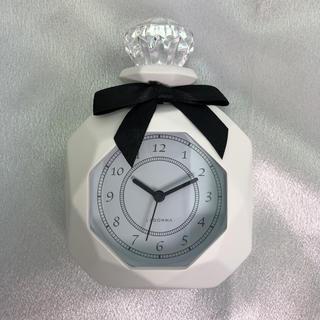 フランフラン(Francfranc)の【新品】パヒューム型置時計(ホワイト)(置時計)
