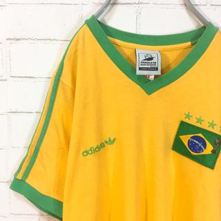 アディダス(adidas)のadidas アディダス Tシャツ イエロー ブラジル代表 サッカーユニフォーム(Tシャツ/カットソー(半袖/袖なし))