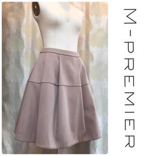 M-premier - M-PREMIER 上品ベージュのタックフレアスカート