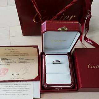 カルティエ(Cartier)のカルティエ ミニ ラブリング K18WG #56(リング(指輪))