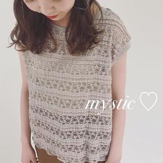 mystic - 19SS最新作♡¥4320レースノースリブラウス
