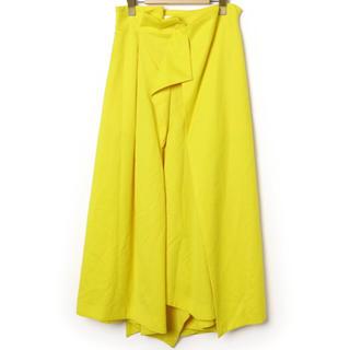 エンフォルド(ENFOLD)の新品未使用 ENFOLD デザインスカート イエロー 36(ロングスカート)