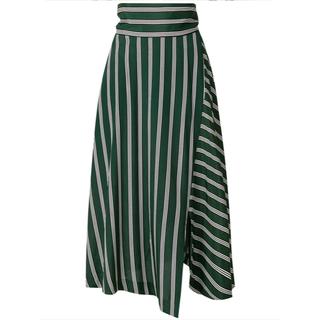 エンフォルド(ENFOLD)の新品 美品タグ付き 希少 ENFOLD 18SS スカート グリーン 36(ロングスカート)