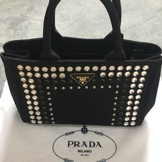 PRADA - PRADA  カナパ Sサイズ ビジュー