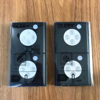 イケア(IKEA)の新品 イケア センサーライト 電池式 LED ブラック 2セット(蛍光灯/電球)