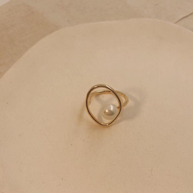 TODAYFUL(トゥデイフル)の✔️ラスト1点 パールリング ゴールド レディースのアクセサリー(リング(指輪))の商品写真