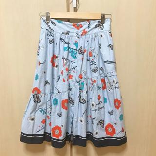 ZARA - ZARA フラワープリント スカート Mサイズ