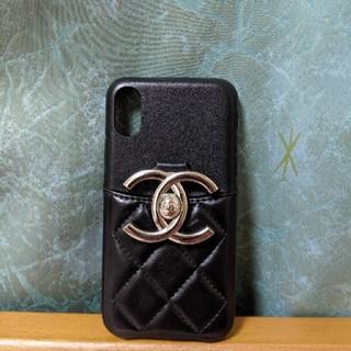 シャネル(CHANEL)の新品 iPhoneX iphone X ケース シャネル 黒 ブラック(iPhoneケース)