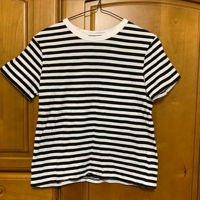 GU(ジーユー)のボーダーTシャツ レディースのトップス(Tシャツ(半袖/袖なし))の商品写真