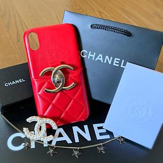 シャネル(CHANEL)のbigCCRED CHANEL iPhoneXR スマホカバー スマホケース(iPhoneケース)