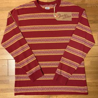 テンダーロイン(TENDERLOIN)の人気品! TENDERLOIN 長袖 ロンT バーガンディー レッド 赤 M(Tシャツ/カットソー(七分/長袖))