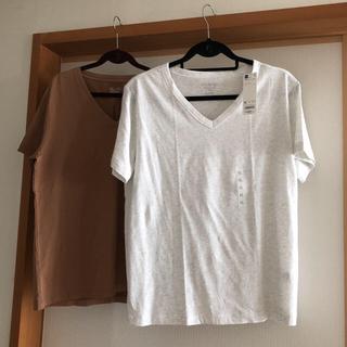 GU - ジーユー  VネックTシャツ  XL 未使用品&used