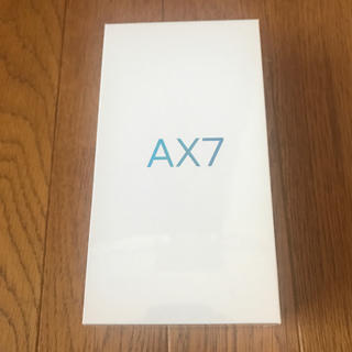ANDROID - 新品未使用 ブルー ax7 oppo AX7