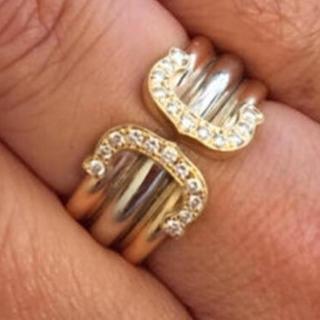 確実正規品カルティエリング、ワイド、指輪、k18.18金、純金(リング(指輪))