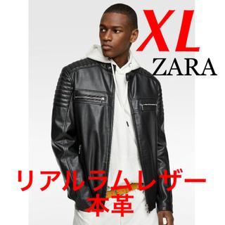 ZARA - 新品 完売品 ZARA XL 本革 ラム レザーライダースジャケット