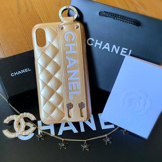 シャネル(CHANEL)のベルトGLD CHANEL iPhoneXRスマホケース スマホカバー XR(iPhoneケース)
