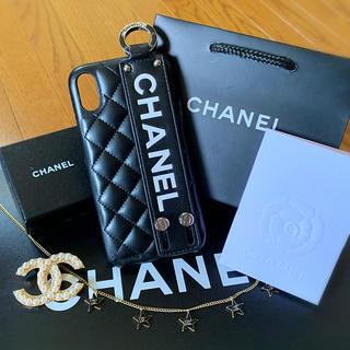 シャネル(CHANEL)のベルトBLK  CHANEL iPhoneXR スマホケース  スマホカバーXR(iPhoneケース)