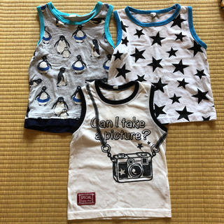 ニシマツヤ(西松屋)のタンクトップ3点セット(95cm)(Tシャツ/カットソー)