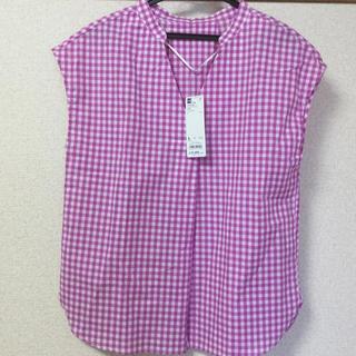 ジーユー(GU)のジーユー チェック シャツ 新品 タグ付き(シャツ/ブラウス(半袖/袖なし))