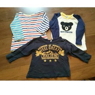 ミキハウス(mikihouse)の長袖 Tシャツ 70~80㎝ 3枚セット(Tシャツ)