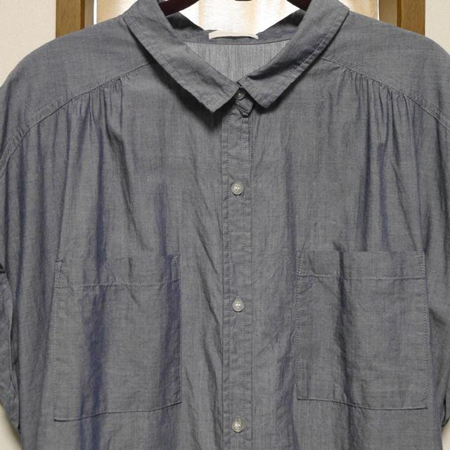 GU(ジーユー)のGU ロングブラウス XLサイズ   レディースのトップス(シャツ/ブラウス(半袖/袖なし))の商品写真